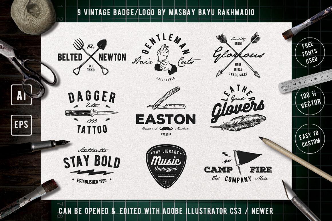 Vintage Badge Drawing Part 2 By Bayu Rakhmadio Thehungryjpeg Com