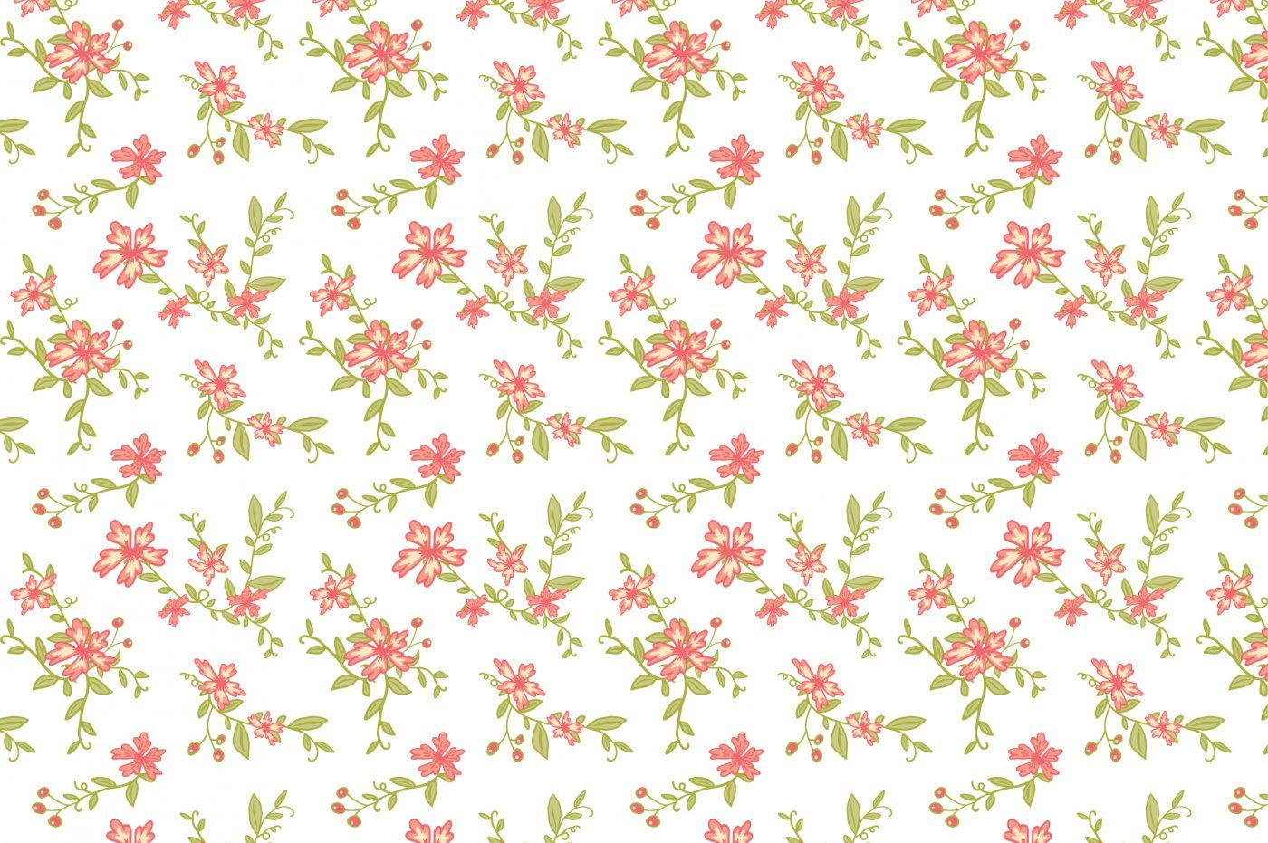 Seamless Vintage Floral Patterns By The Pen and Brush ...
