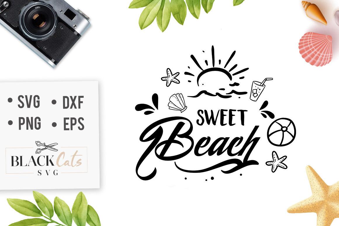 Sweet Beach Svg File By Blackcatssvg Thehungryjpeg Com