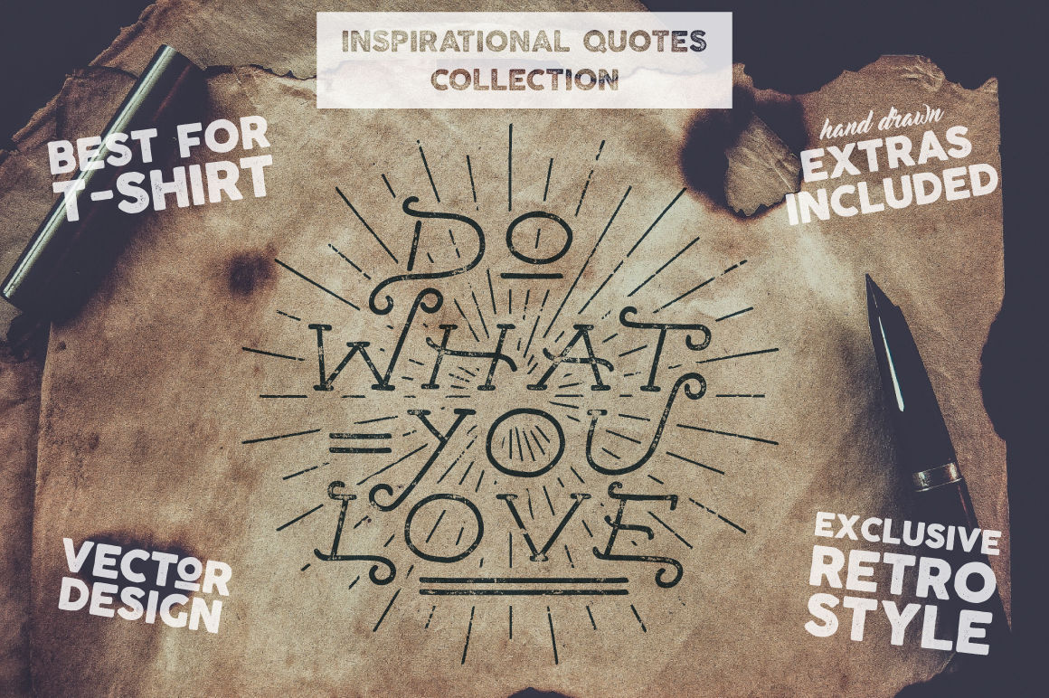 Inspirational Quotes Set Extras By Jekson Graphics