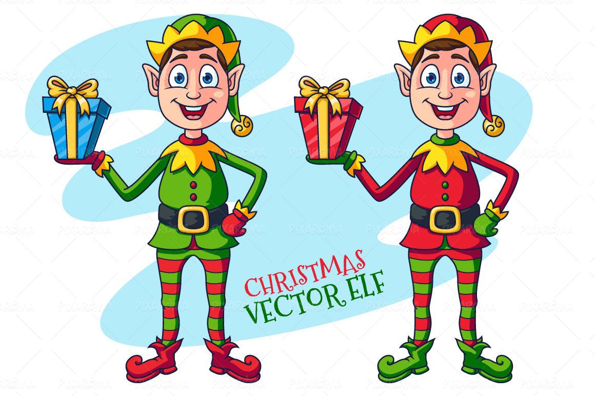 Cartoon Christmas Elf Character By Pixaroma Thehungryjpeg Com