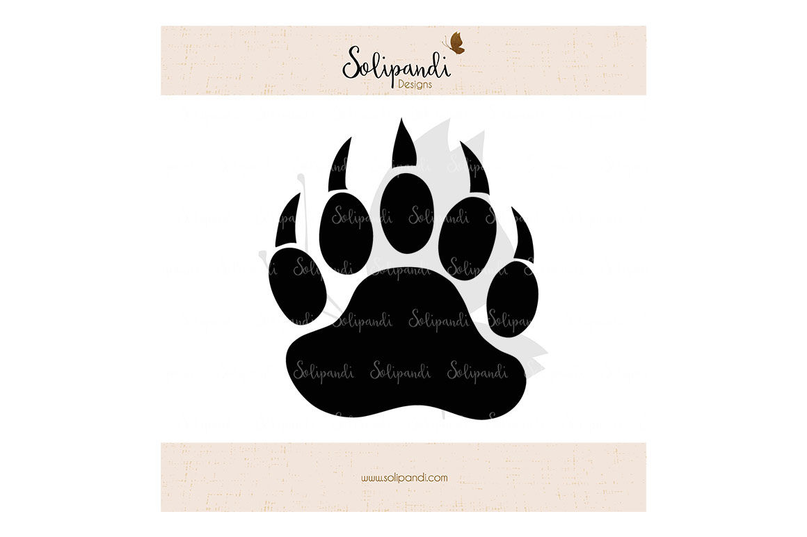 Bear Paw Svg And Dxf Cut Files For Cricut Silhouette Die Cut