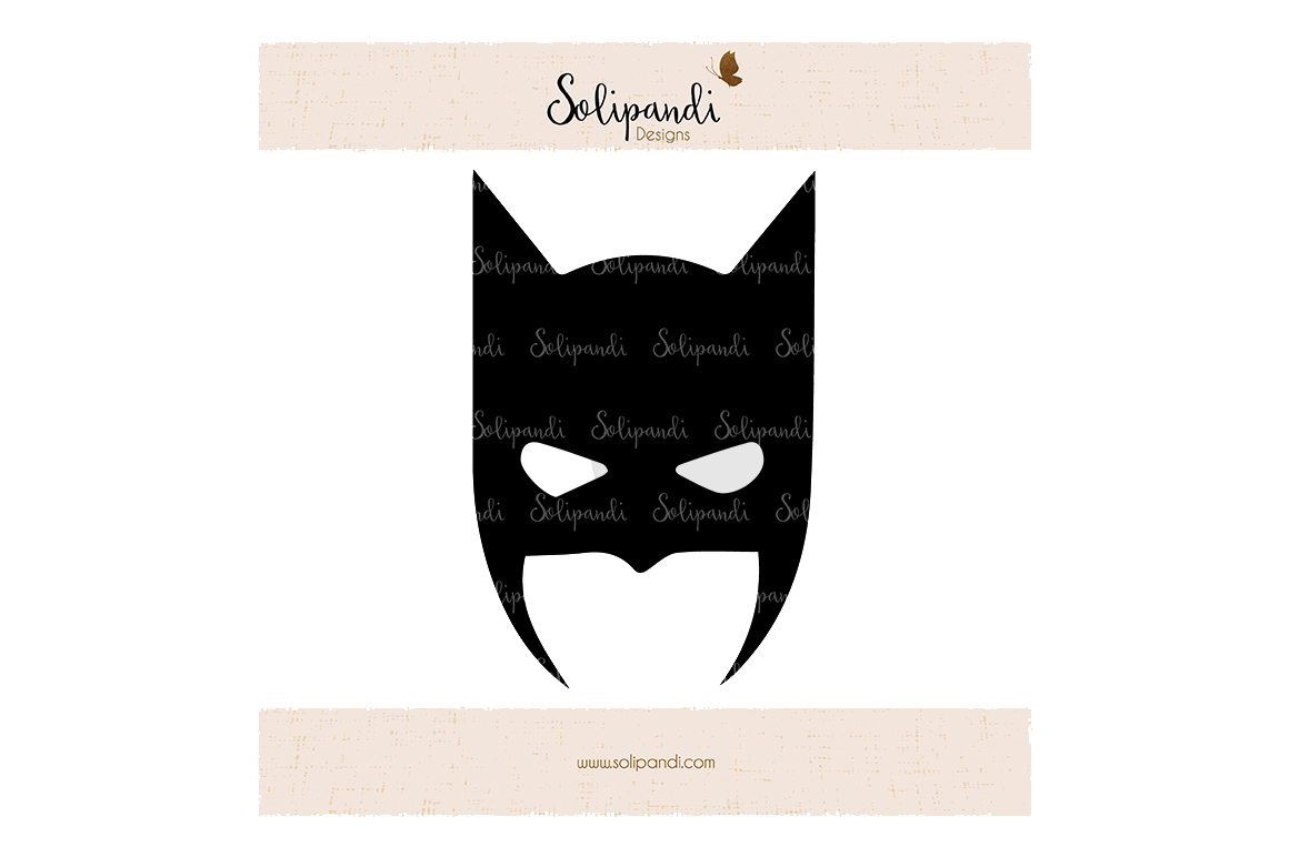 Batman Mask Svg And Dxf Cut Files For Cricut Silhouette Die