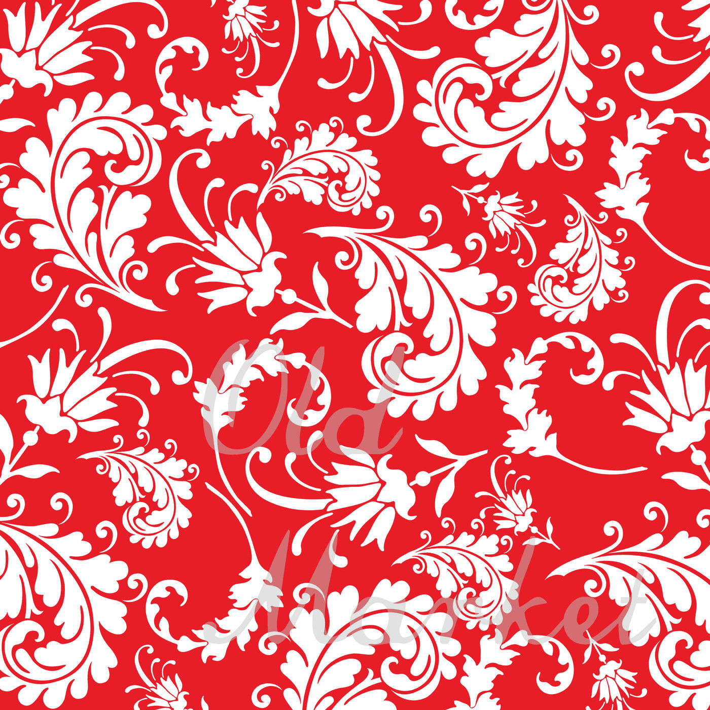 Floral Paisley Digital Papers By Shannon Keyser Thehungryjpeg Com