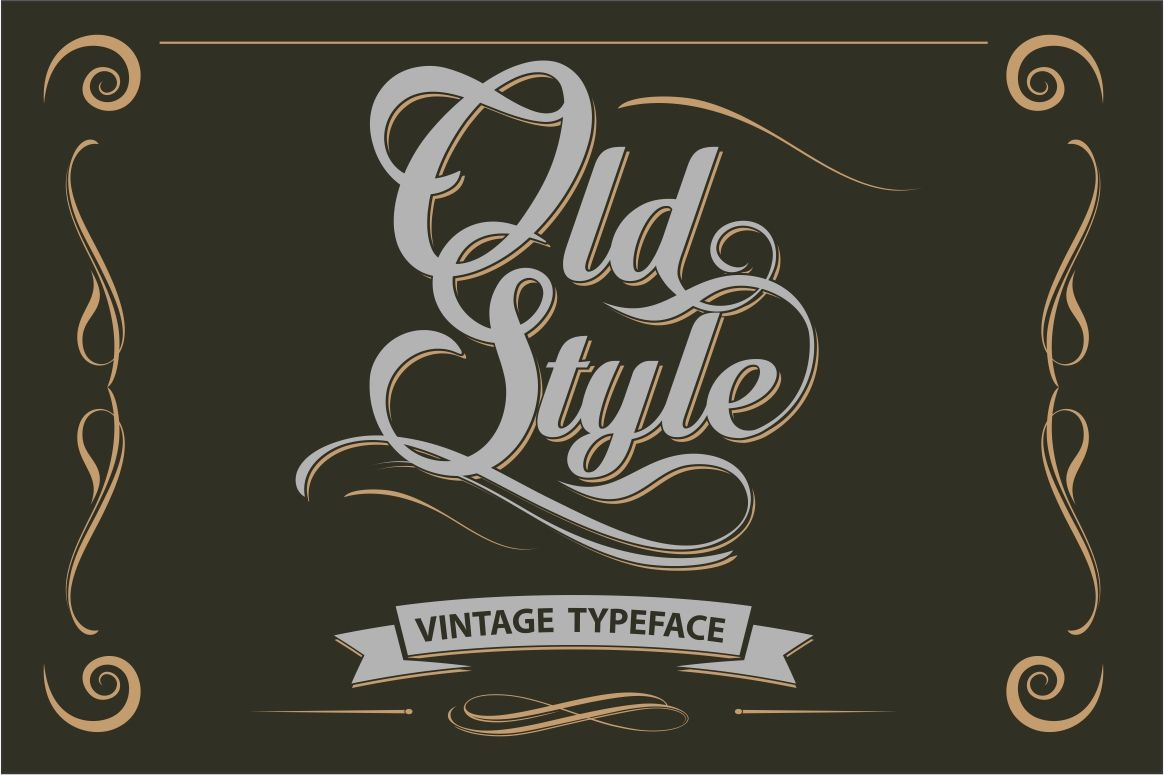 Old Style Vintage Letters By Vintage Font Lab Thehungryjpeg Com