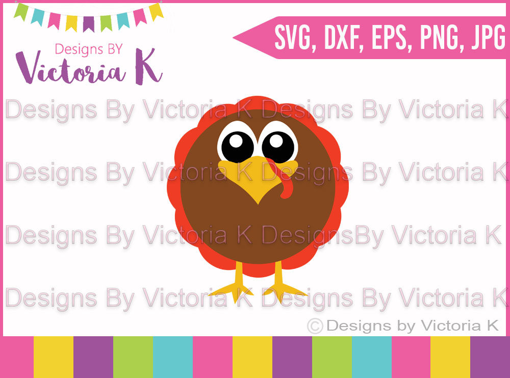 Fat Turkey Thanksgiving Fall Christmas Svg Dxf Cut Files By Designs By Victoria K Thehungryjpeg Com