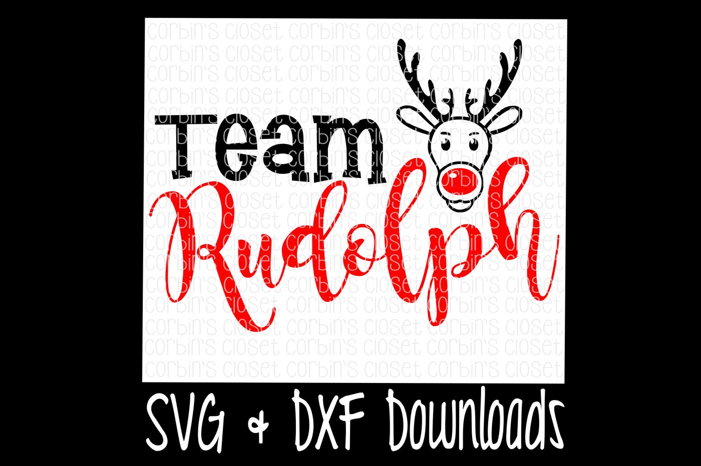 Team Rudolph Christmas Santa Rudolph Cutting File By Corbins