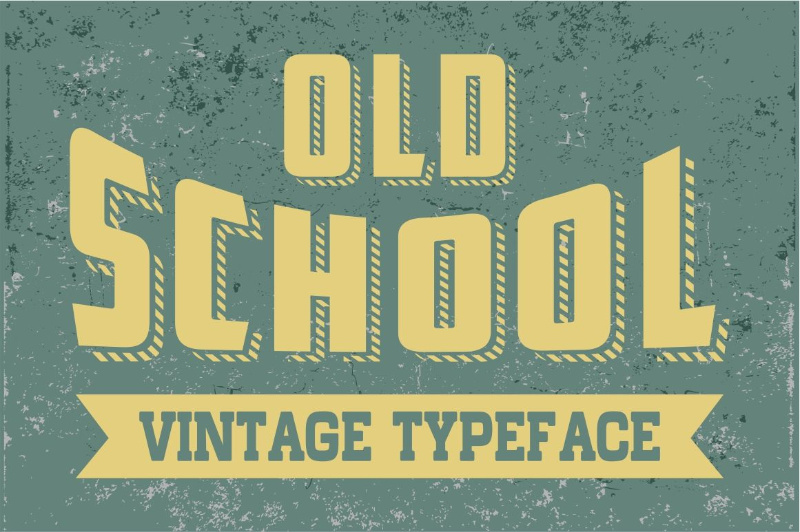 Old School Vintage Letters By Vintage Font Lab Thehungryjpeg Com