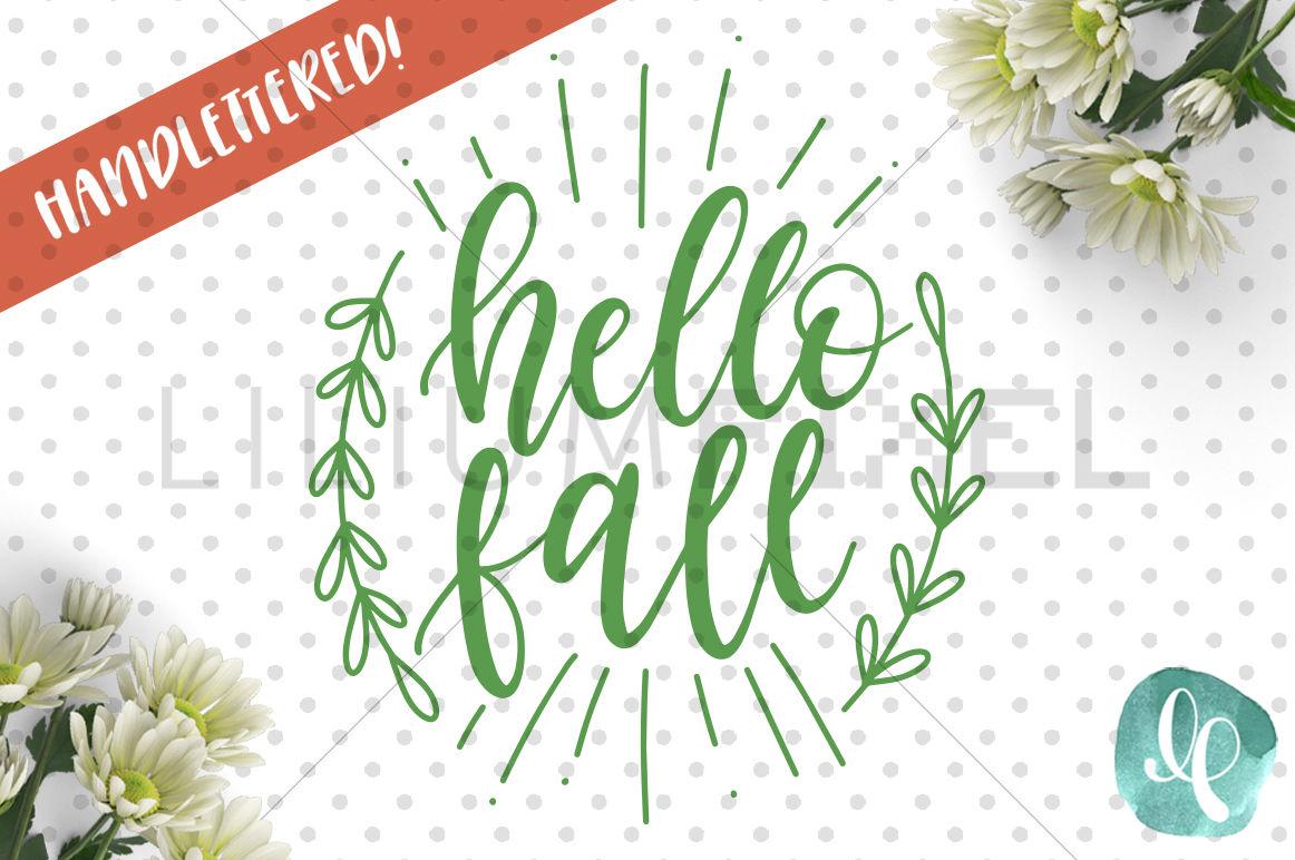 Hello Fall Svg Png Jpeg Dxf By Lilium Pixel Svg Thehungryjpeg Com