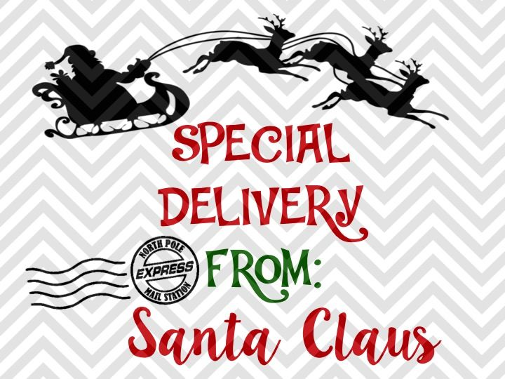Special Delivery From Santa Claus Santa Sack Presents Christmas