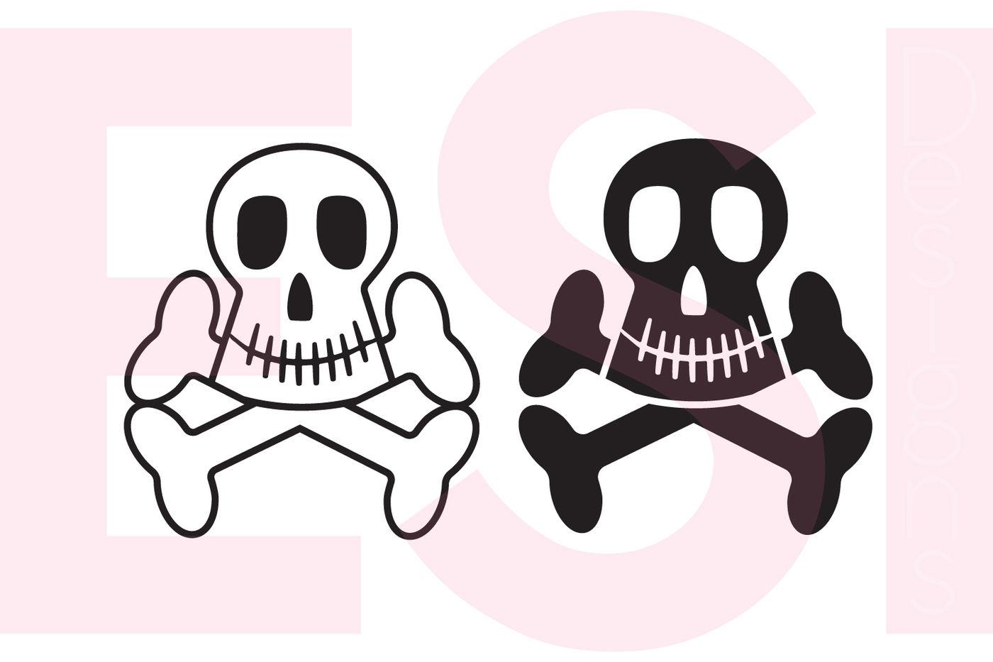 Skull Crossbones Set Svg Dxf Eps Png Cutting Files By Esi Designs Thehungryjpeg Com