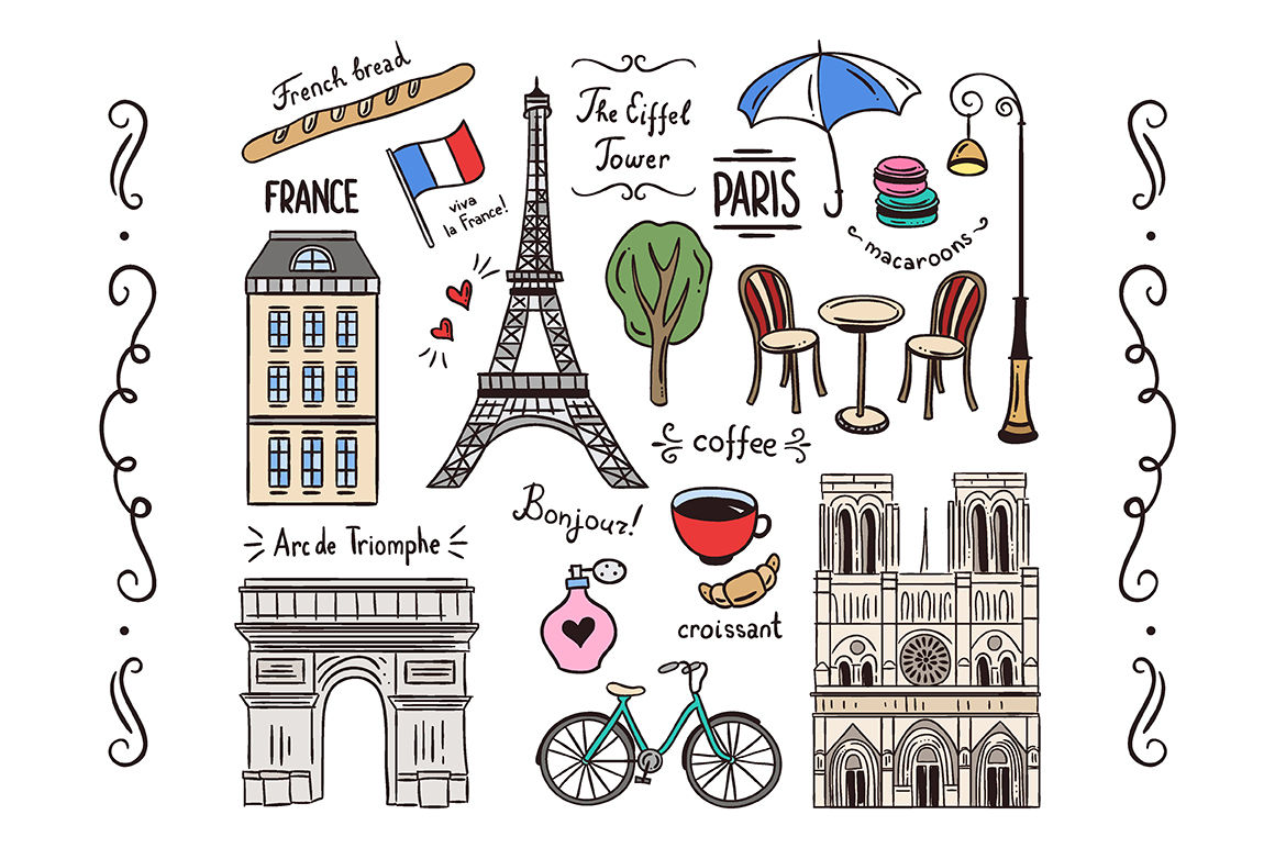 Paris Illustrations Patterns By Redchocolate Illustration