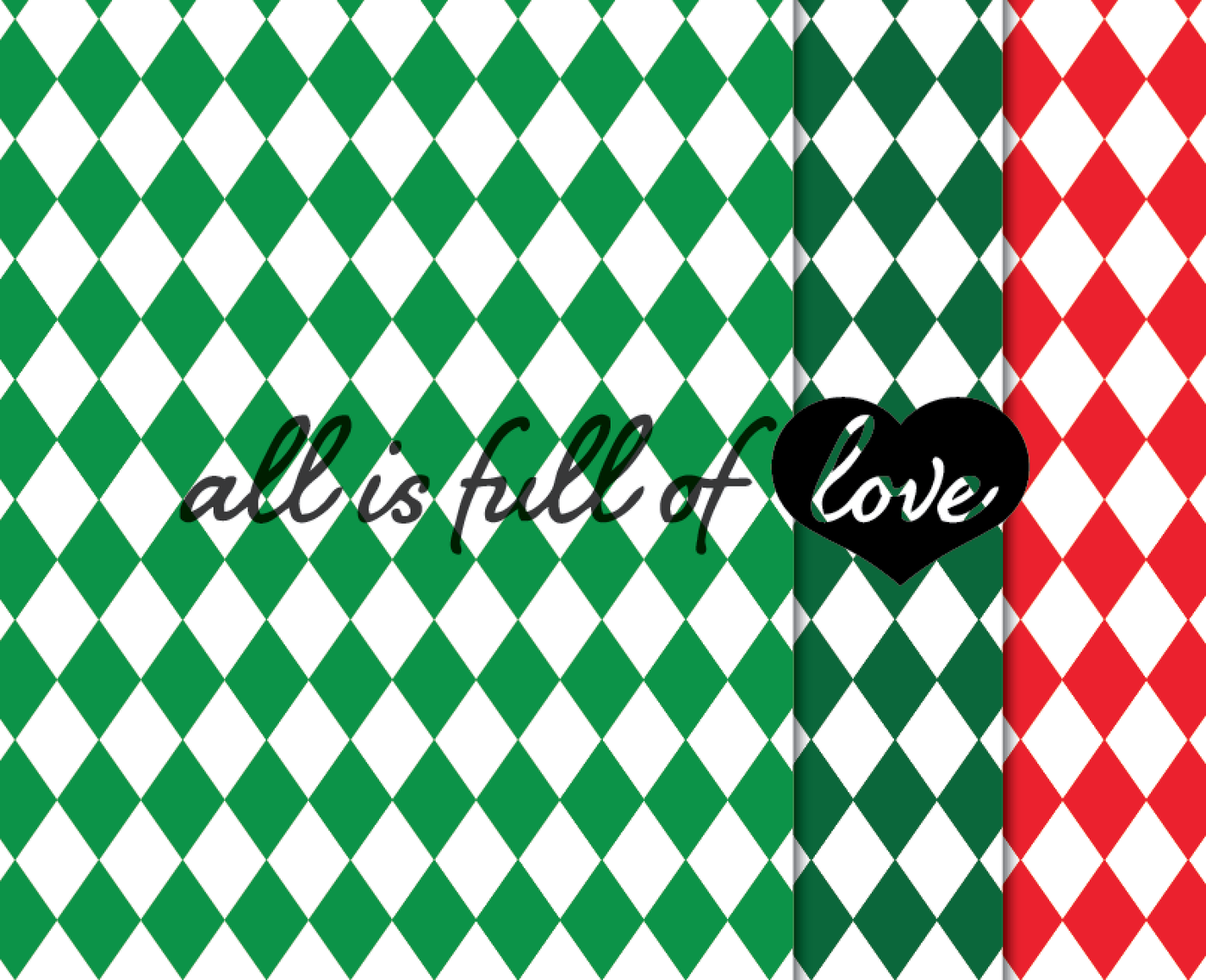 Christmas Geometric Patterns Red And Green Background By All Is