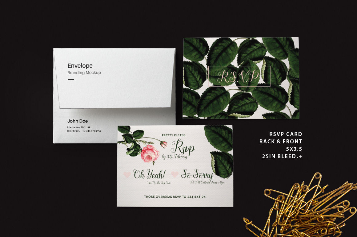 DIY Rose Wedding Invitation PSD Template By Sciuridaee ...