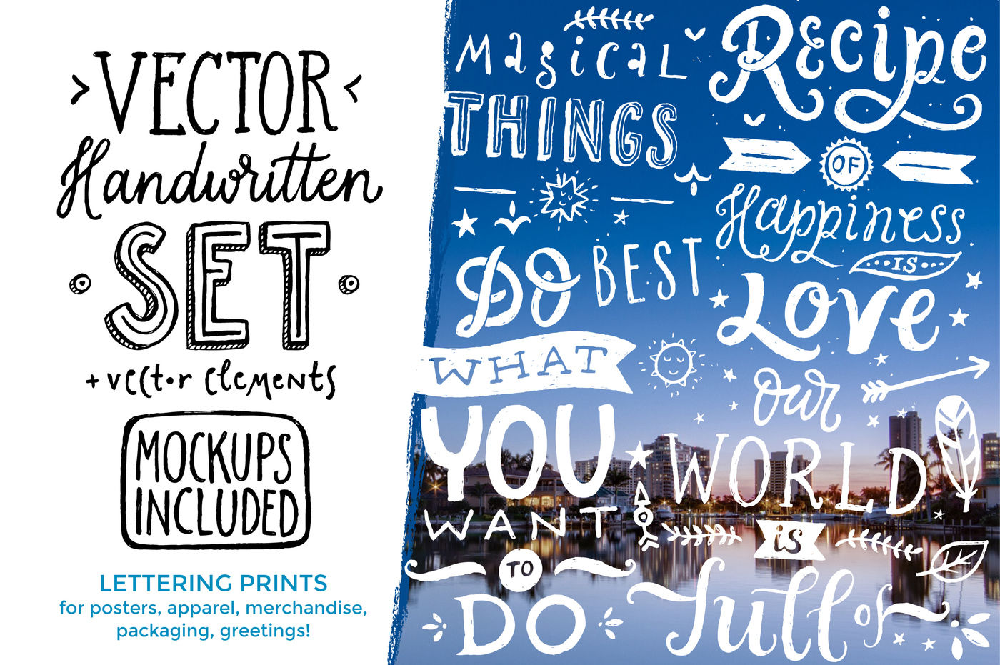 Vector Handwritten Set By Zira Zulu Thehungryjpeg Com