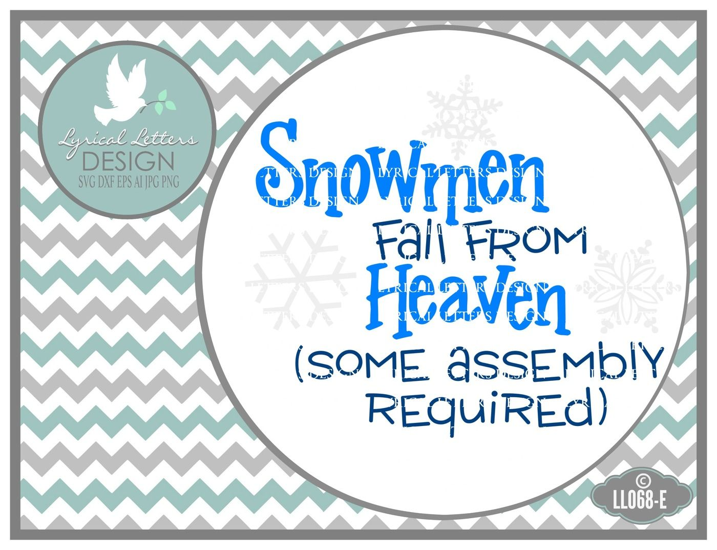 Snowmen Fall From Heaven Some Assembly Required SVG DXF EPS