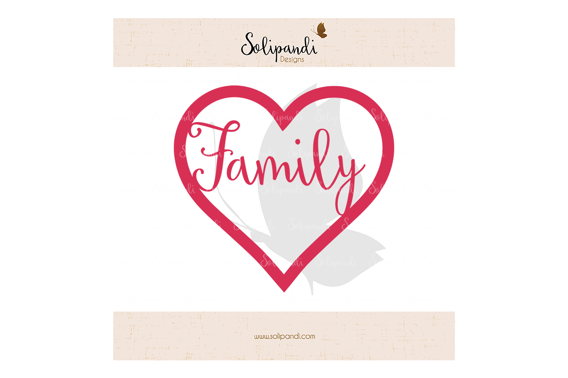 Heart Family Svg And Dxf Cut Files For Cricut Silhouette