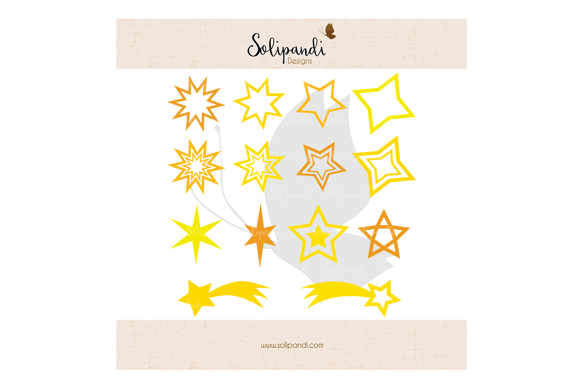 Christmas Star Bundle 14 Star Set Svg And Dxf Cut Files By Solipandi Designs Thehungryjpeg Com
