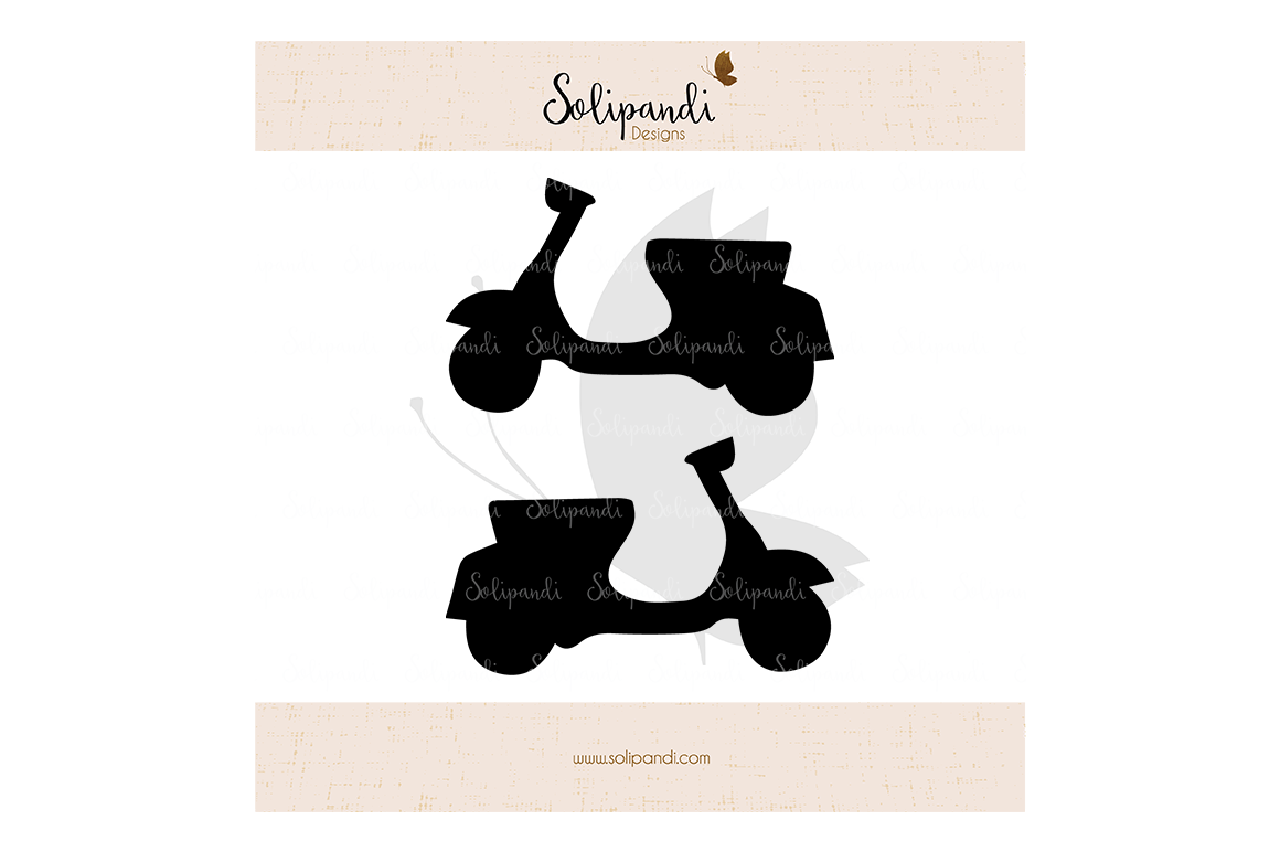 Scooter Vespa Moped Svg And Dxf Cut Files For Cricut Silhouette