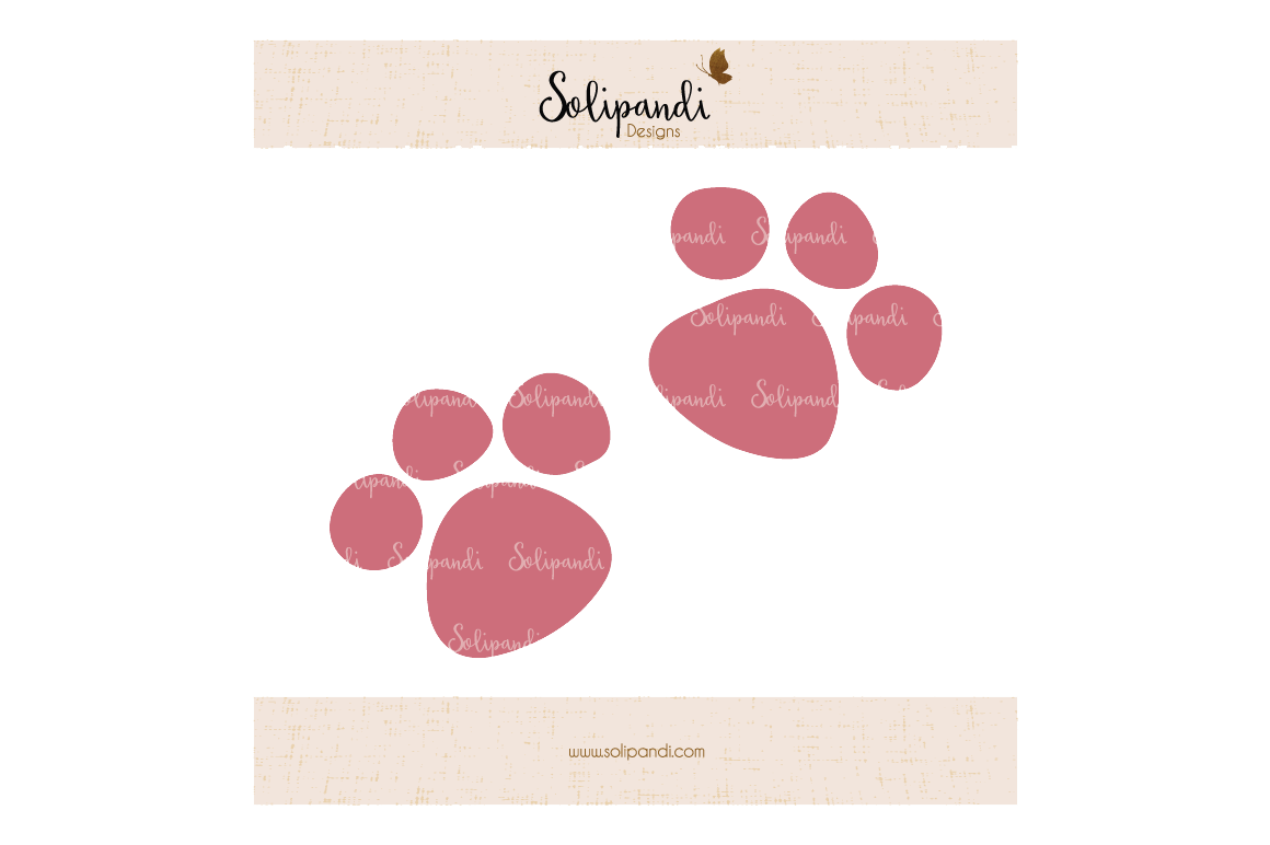 Cat Paws Svg And Dxf Cut Files For Cricut Silhouette Die Cut