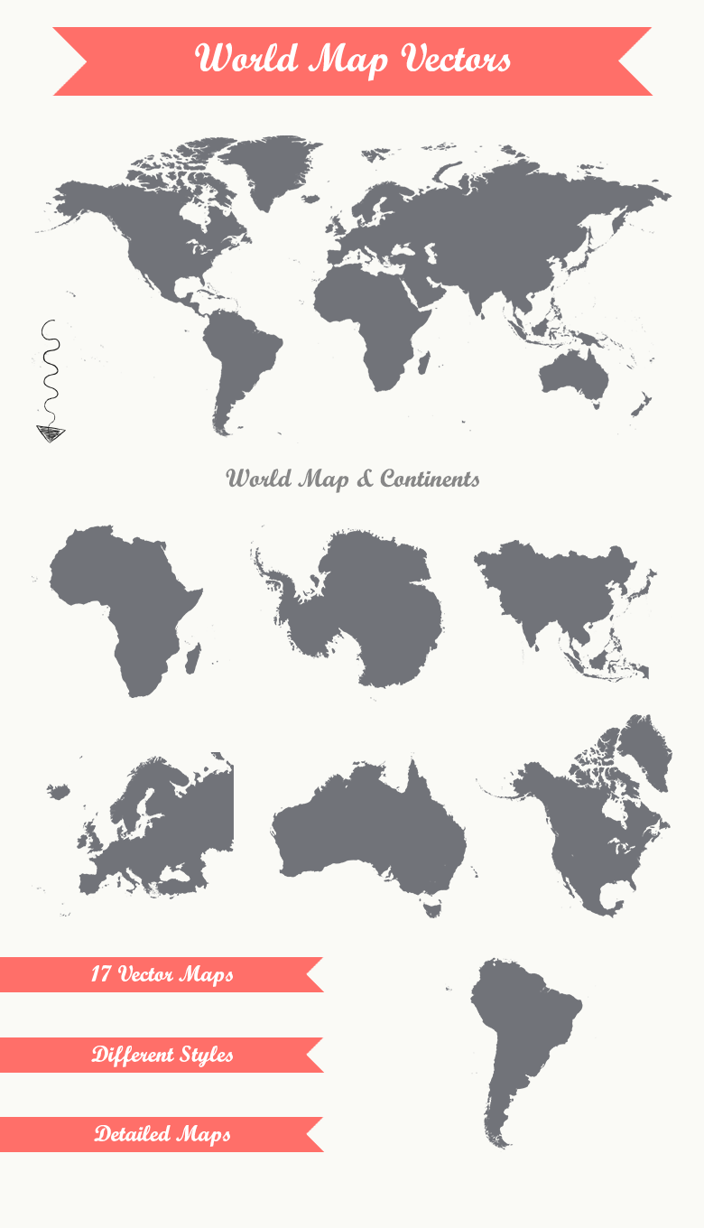 17 World Map Vectors By Dreamstale Thehungryjpeg Com