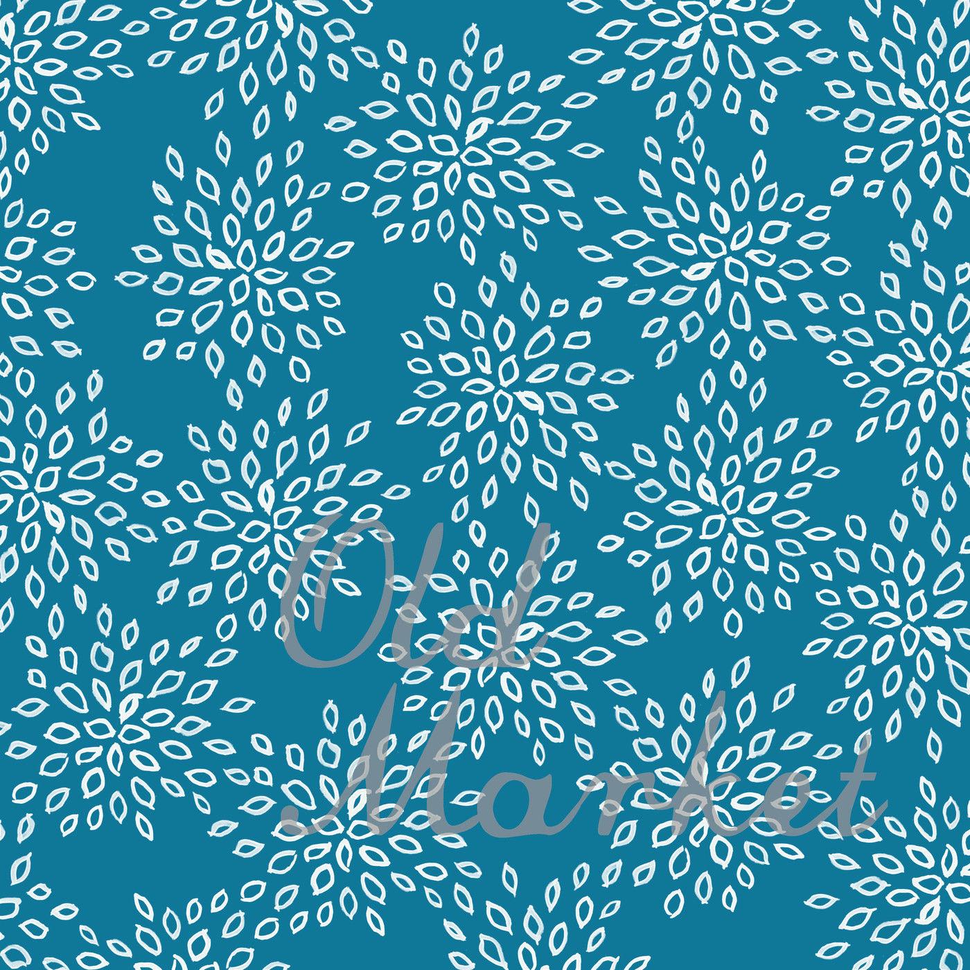 Blue Patterns Digital Paper By Shannon Keyser Thehungryjpeg Com