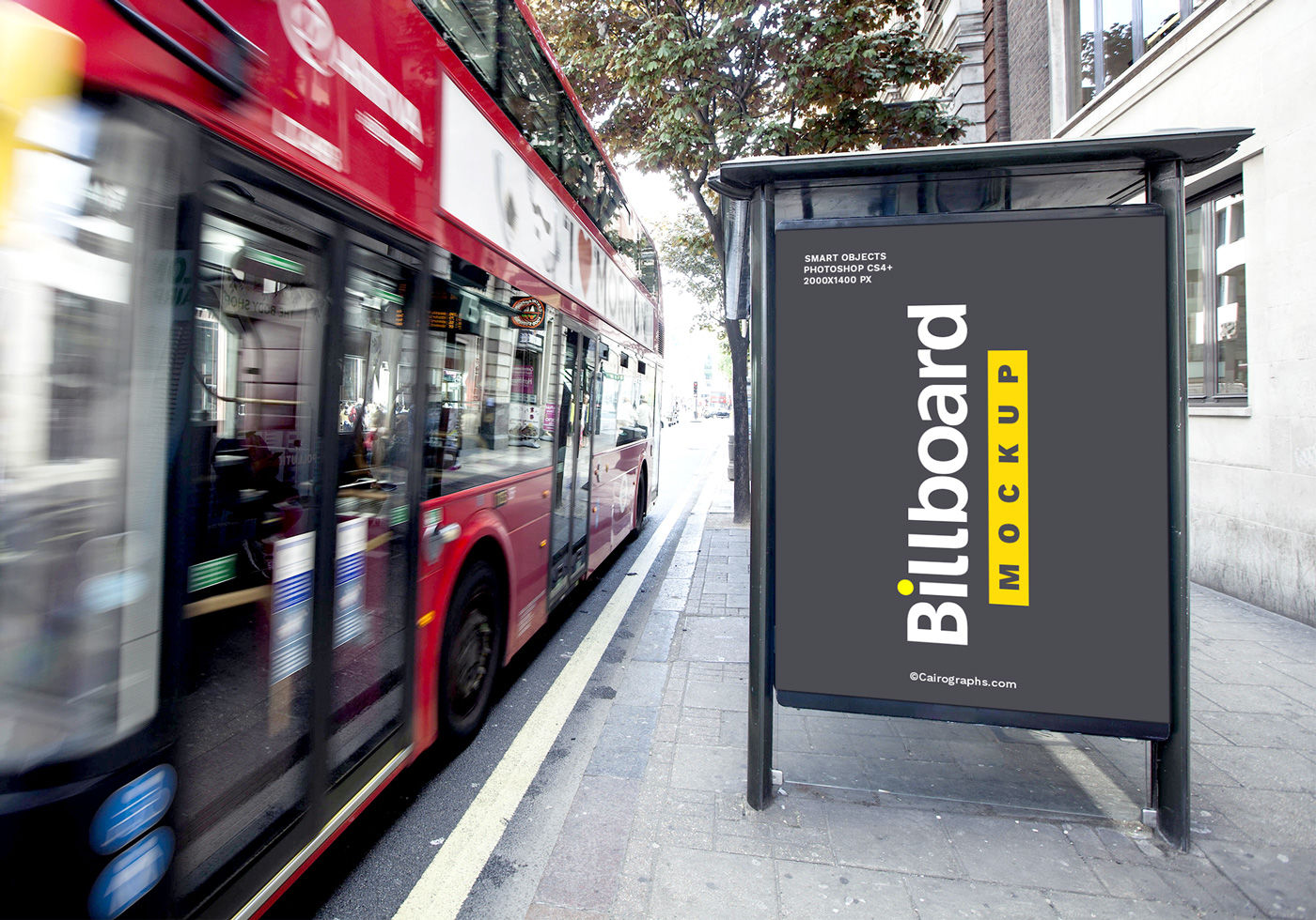 Download Bus Branding Mockup Psd Yellow Images