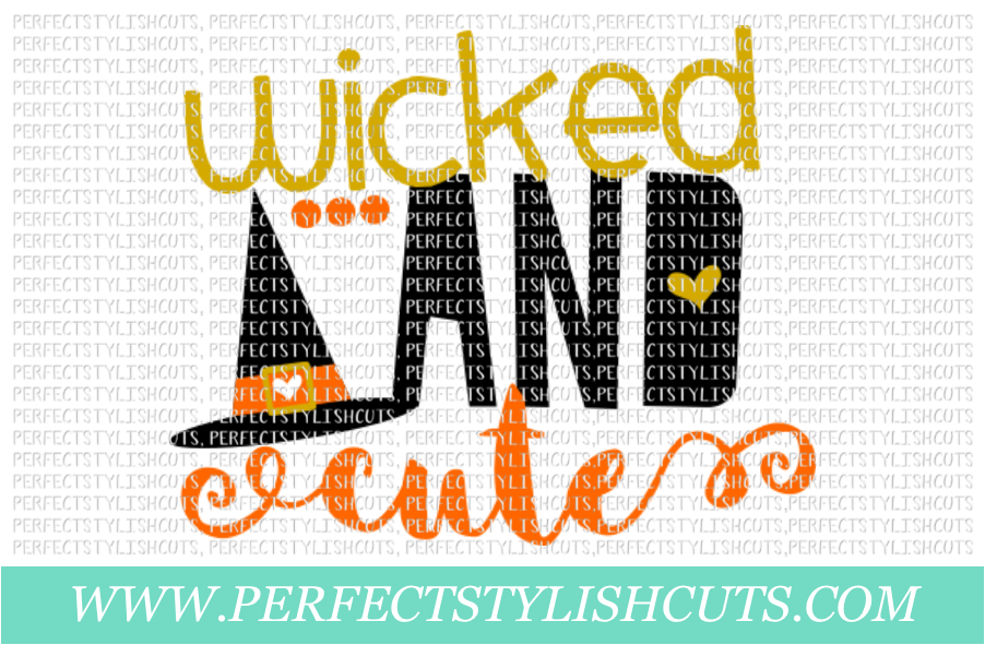 Wicked And Cute Svg Eps Dxf Png Files For Cutting Machines By Perfectstylishcuts Thehungryjpeg Com