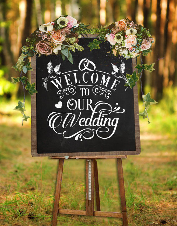 Welcome To Our Wedding Sign Svg File Cutting File By