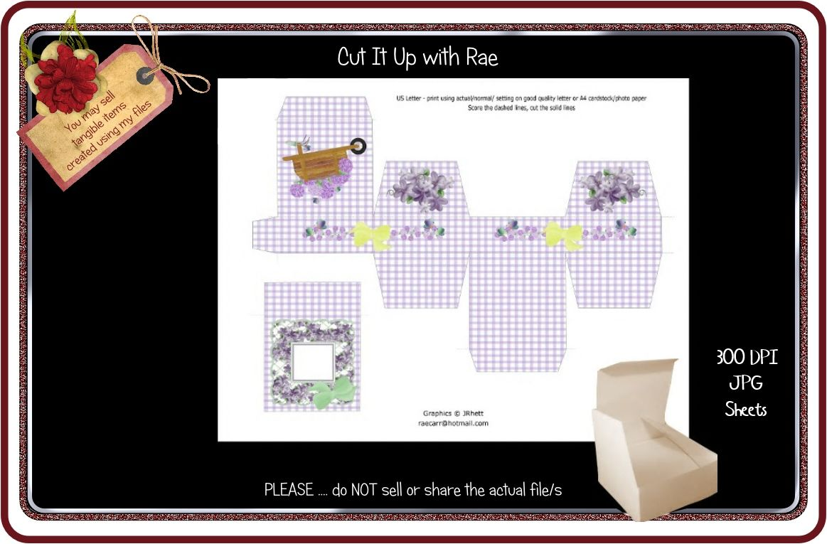 Ps177 Jewelry Gift Box Printable Sheet By Cut It Up With Rae Thehungryjpeg Com
