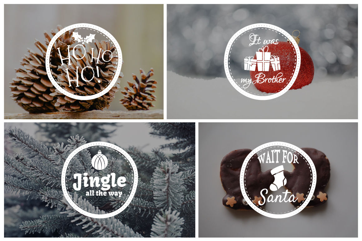 Funny Christmas Badges Collection By Jekson Graphics | TheHungryJPEG com