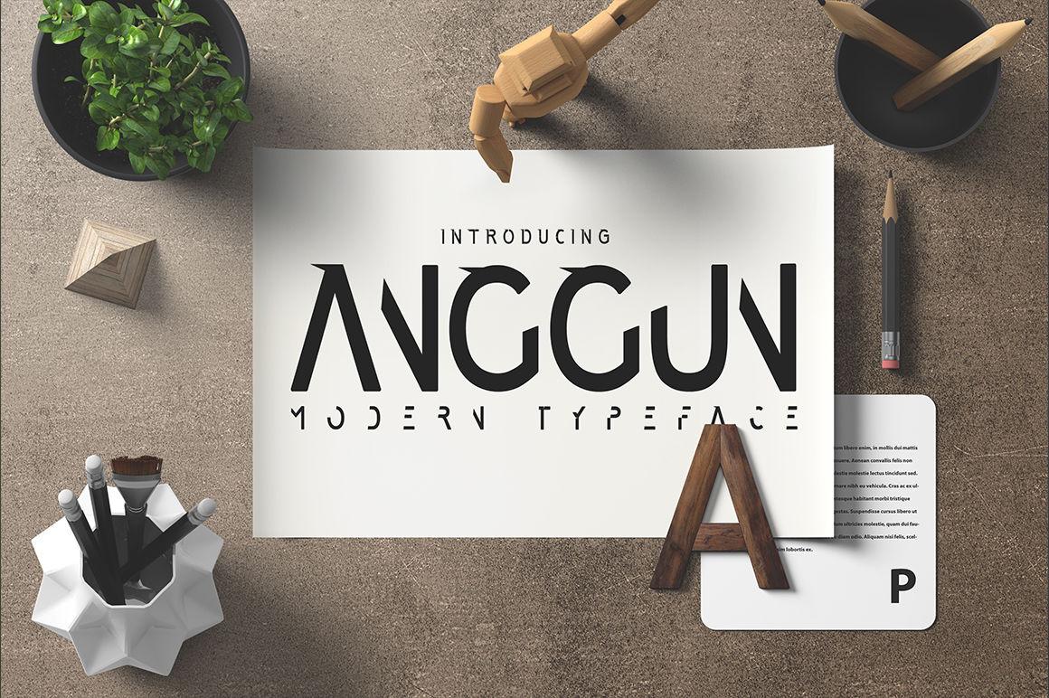 Anggun Font By Madededuk Thehungryjpeg Com