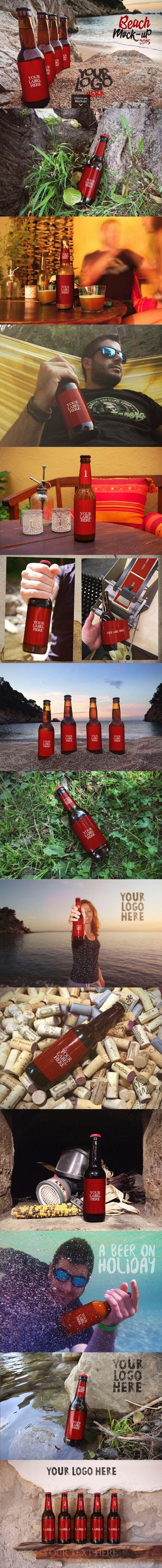 Download Amber Pet Beer Bottle Mockup Yellowimages