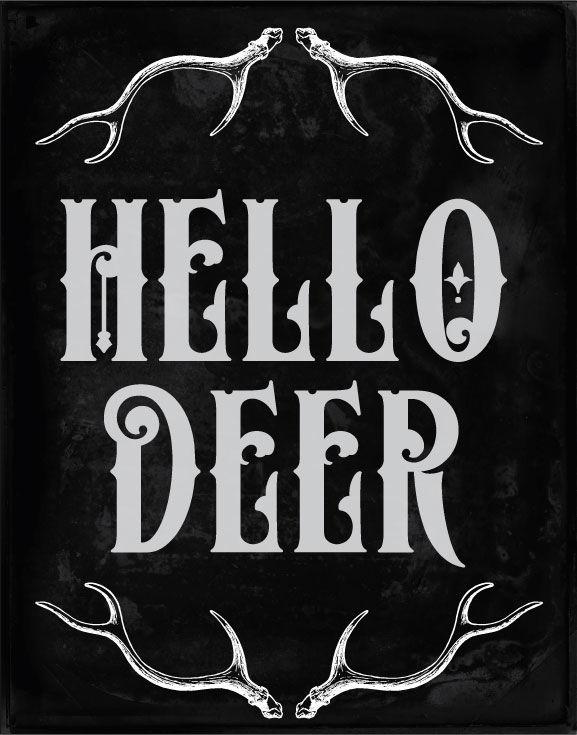 31 Vintage Deer Clipart & Brushes By Verdigris Studios ...