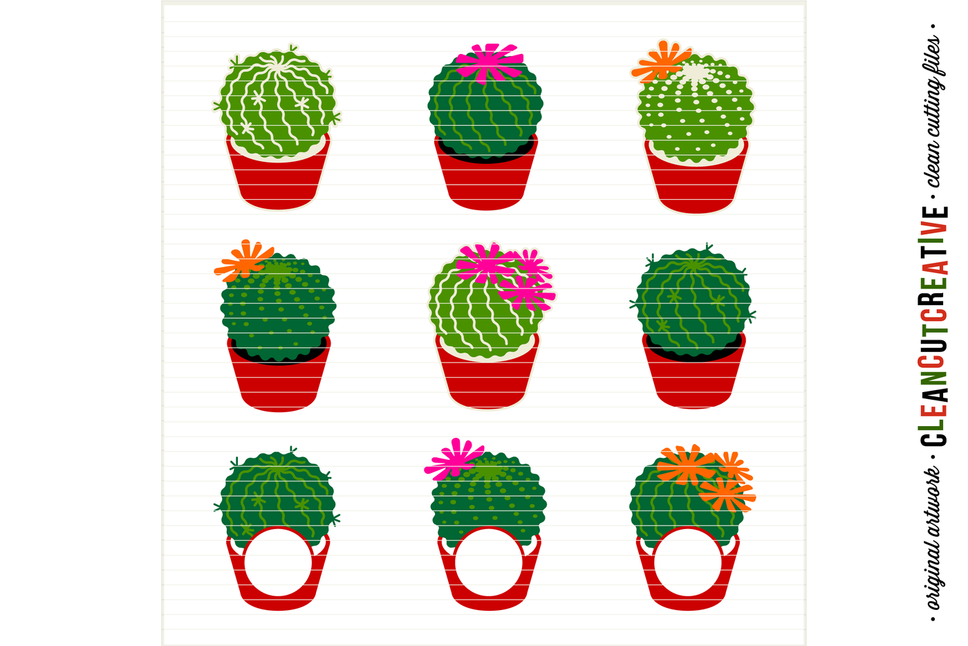 INTRODUCTION SALE Cactus Cutfiles Monogram Frame Summer Designs