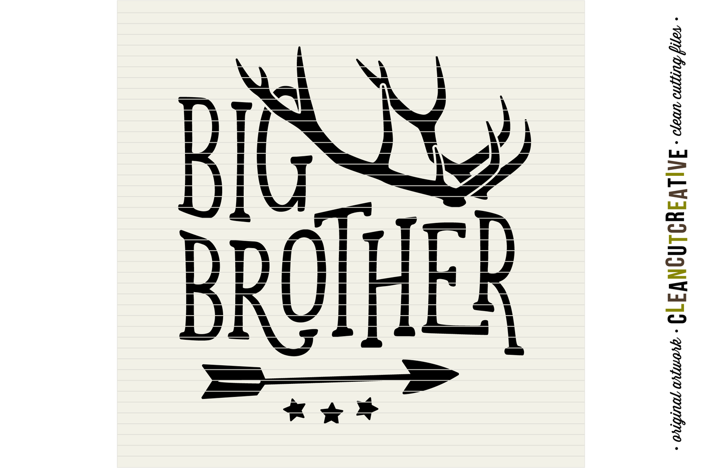 Svg Big Brother Little Brother Design With Antlers And Arrow Svg