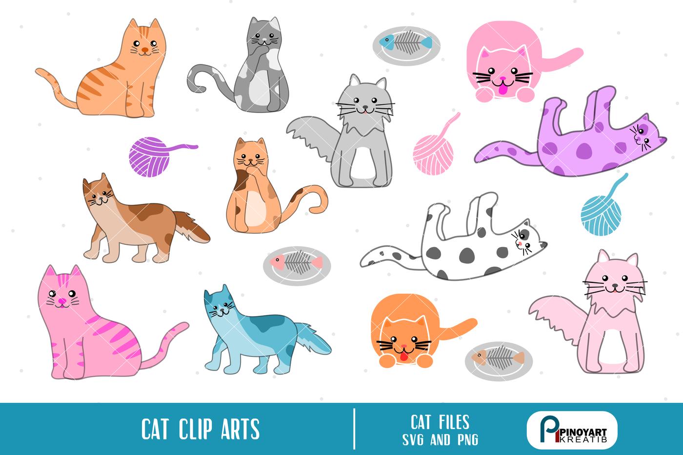 Cat Clip Art Cat Svg Cat Clip Art Cat Svg File Cat Print Cat Png