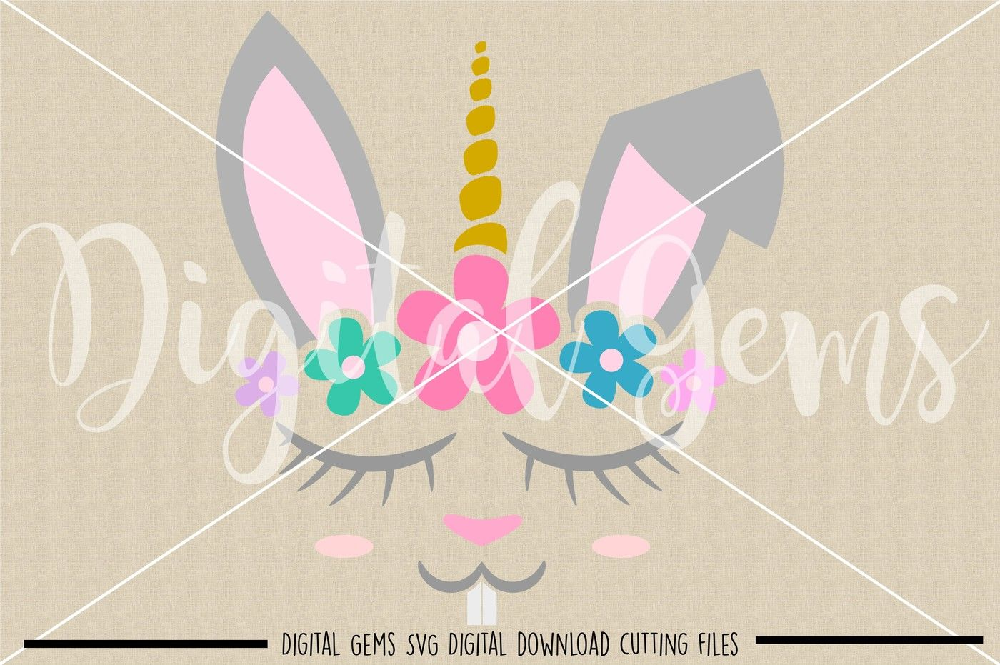 Unicorn Rabbit Svg Dxf Eps Png Files By Digital Gems