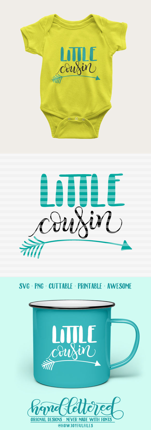 Little Cousin Arrow Svg Dxf Pdf Hand Drawn Lettered Cut