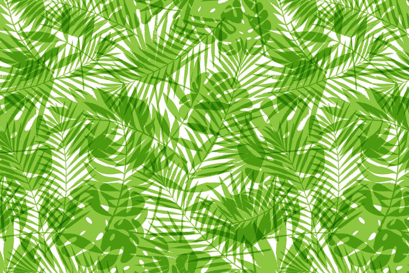Summer Tropical Palm Tree Leaves Seamless Pattern By Nata Kuprova