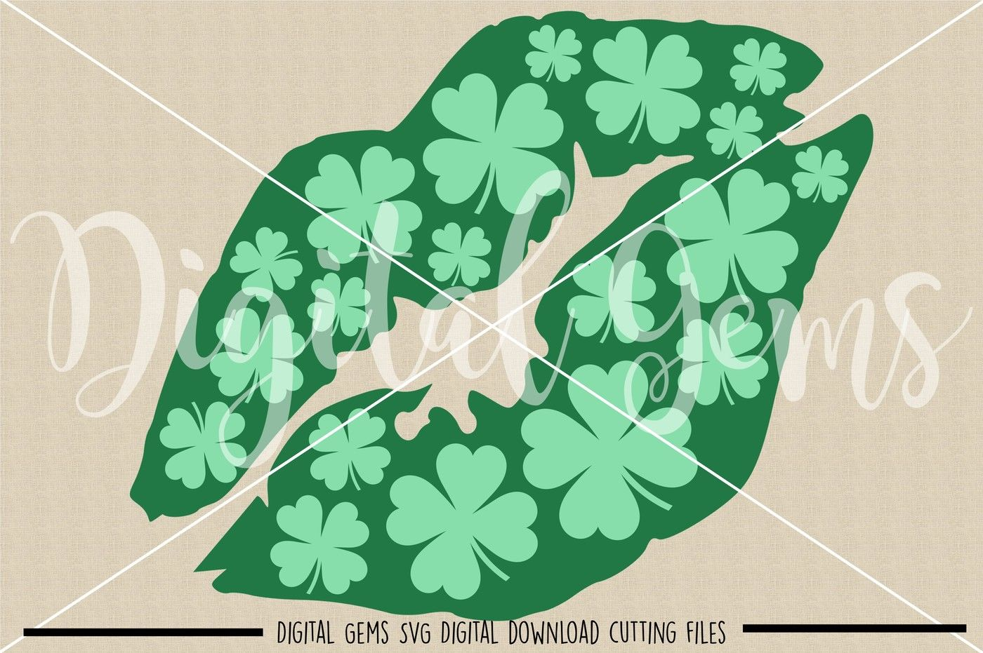 St Patrick S Day Lips Svg Dxf Eps Png Files By Digital Gems