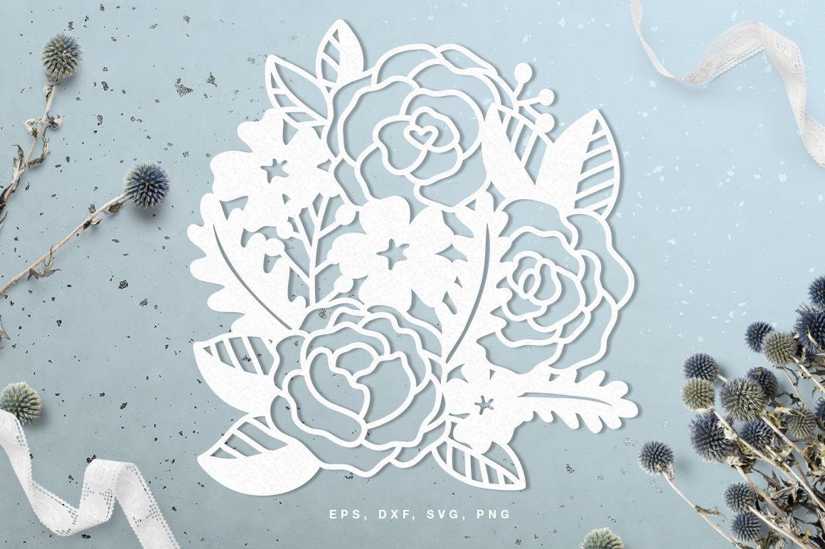 Floral Digital Cut File Svg Dxf Png Eps By Inna Moreva Thehungryjpeg Com