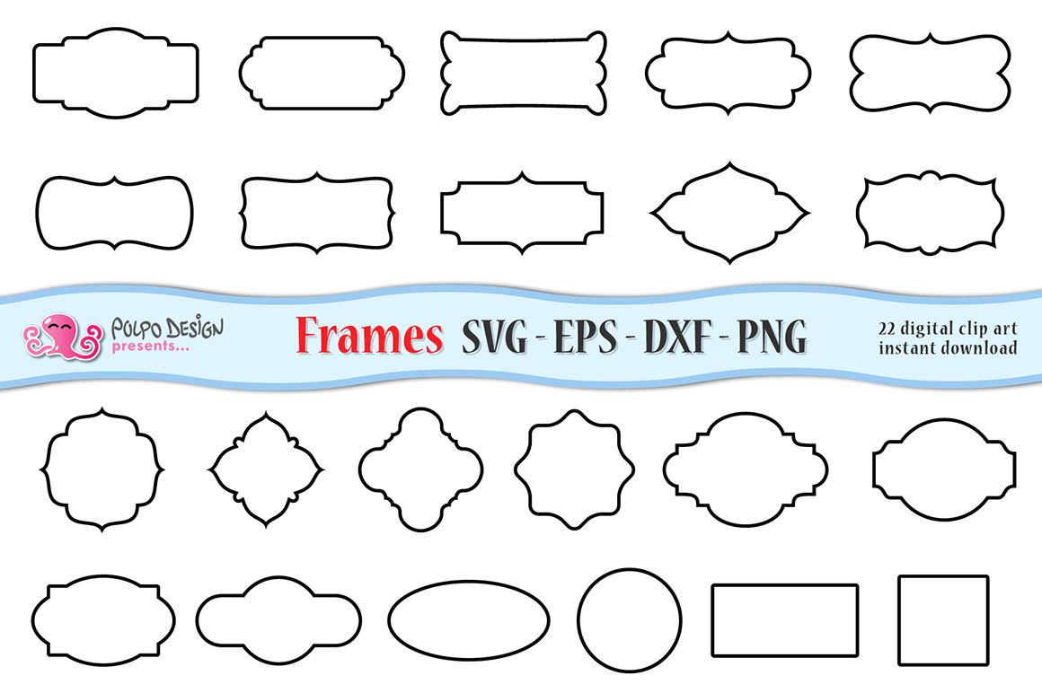 Svg Frames Clip Art By Polpo Design Thehungryjpeg Com