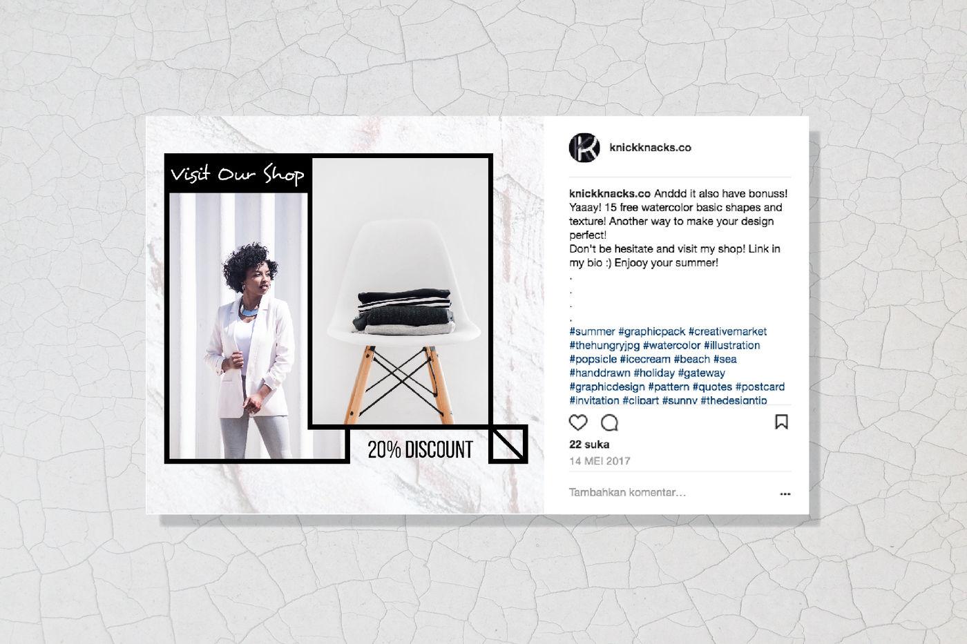 Geometric Social Media Post Template By Knickknacks Co