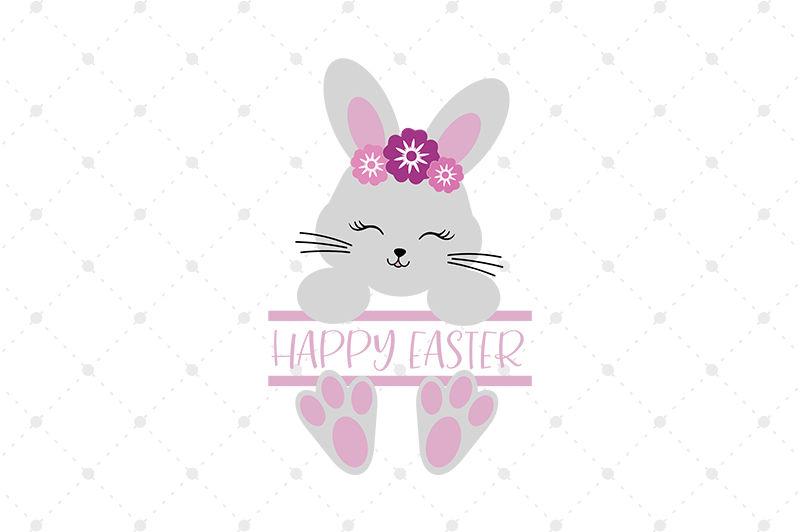 Split Easter Bunny Svg Files By Svg Cut Studio Thehungryjpeg Com