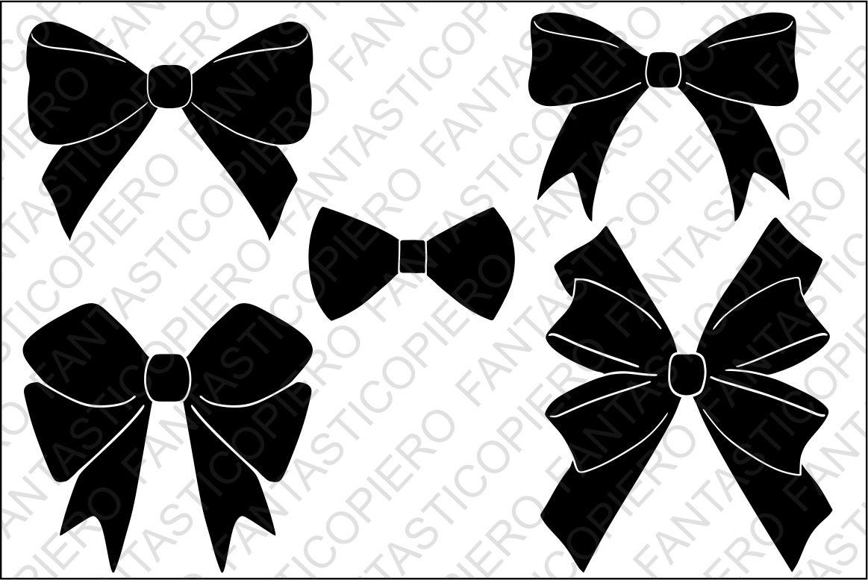 Bows Svg Files For Silhouette Cameo And Cricut By Fantasticopiero