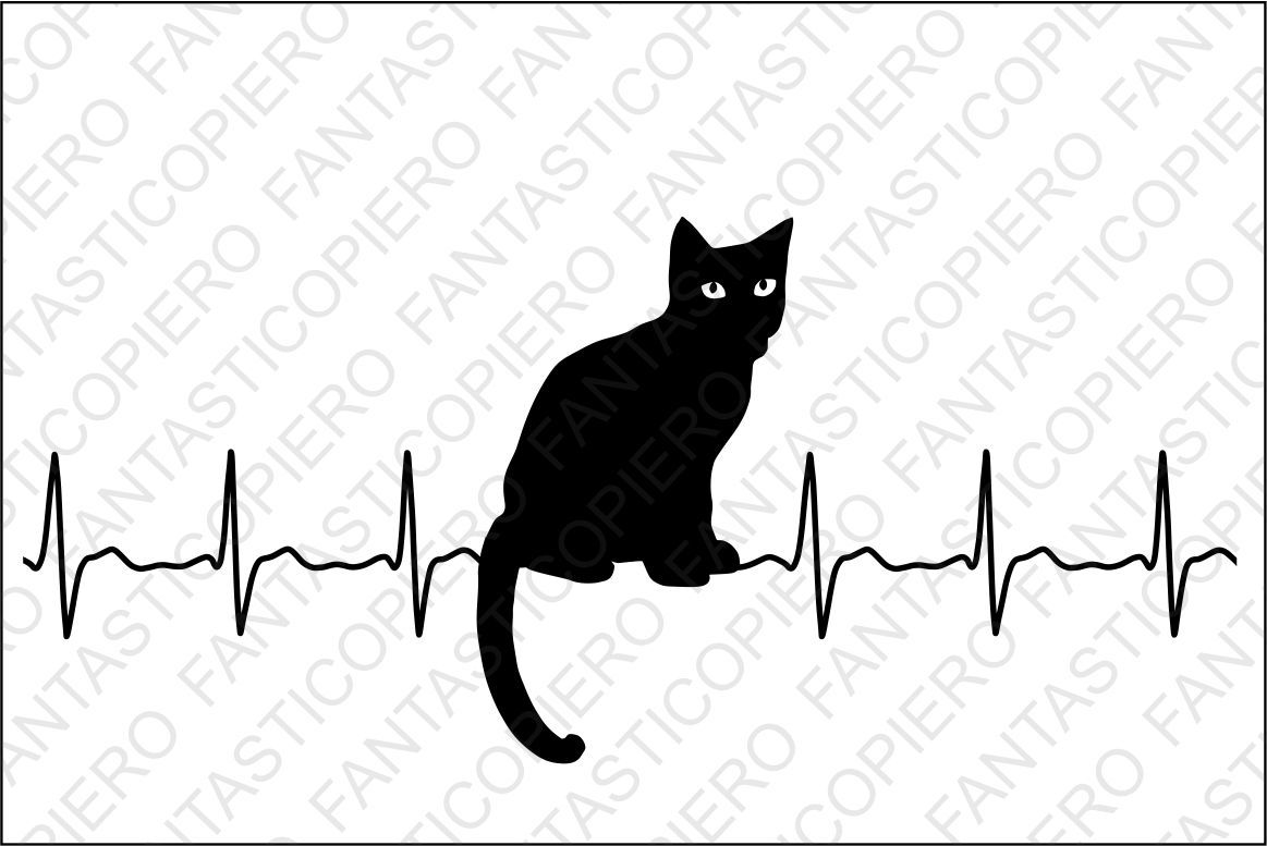 Cardio Cat Svg Files For Silhouette Cameo And Cricut By