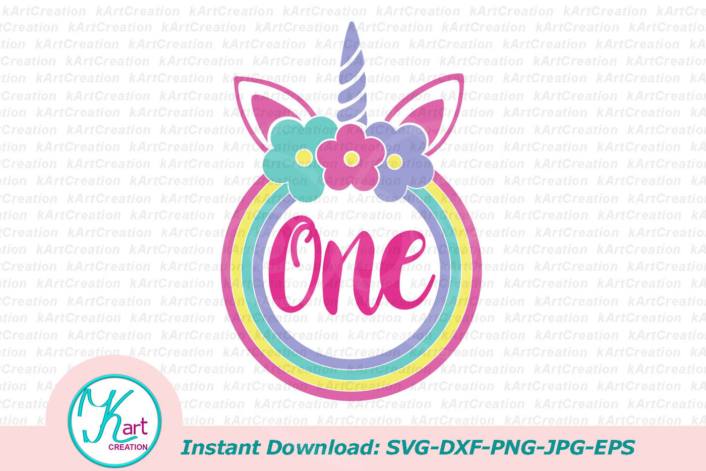 One Unicorn Svg One Svg File 1st Birthday Svg First Birthday