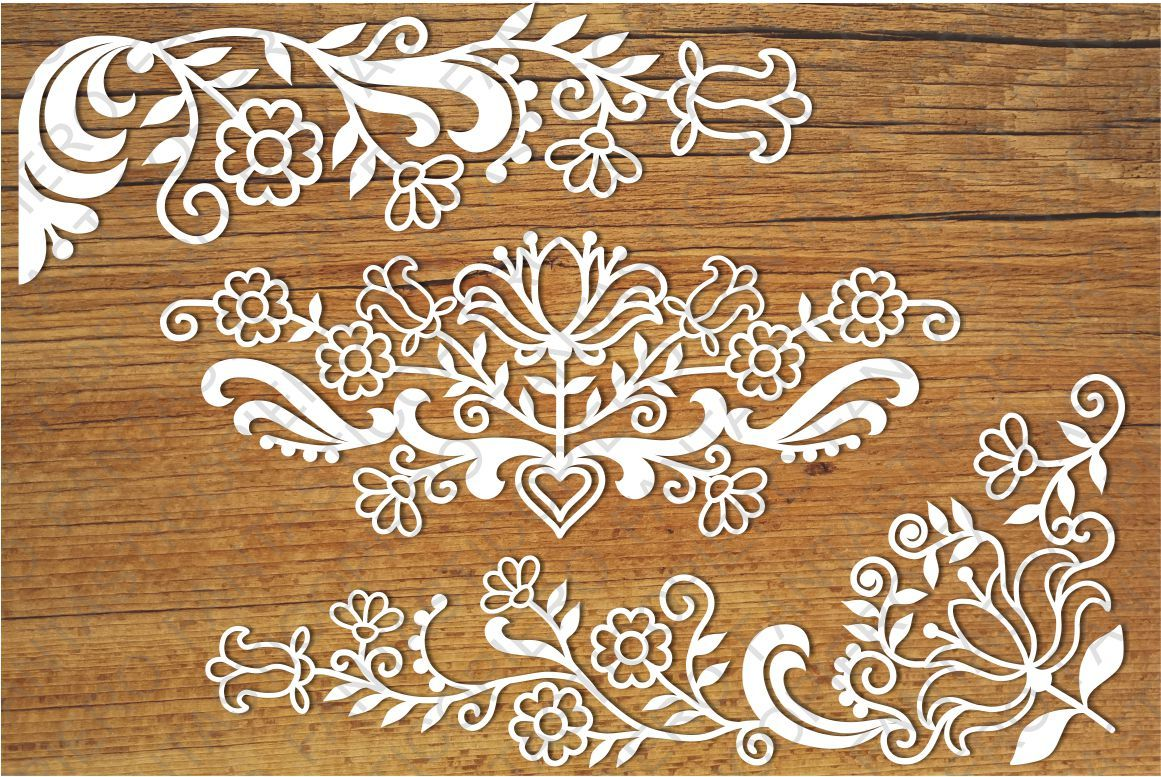 Friezes Floral Svg Files For Silhouette Cameo And Cricut By