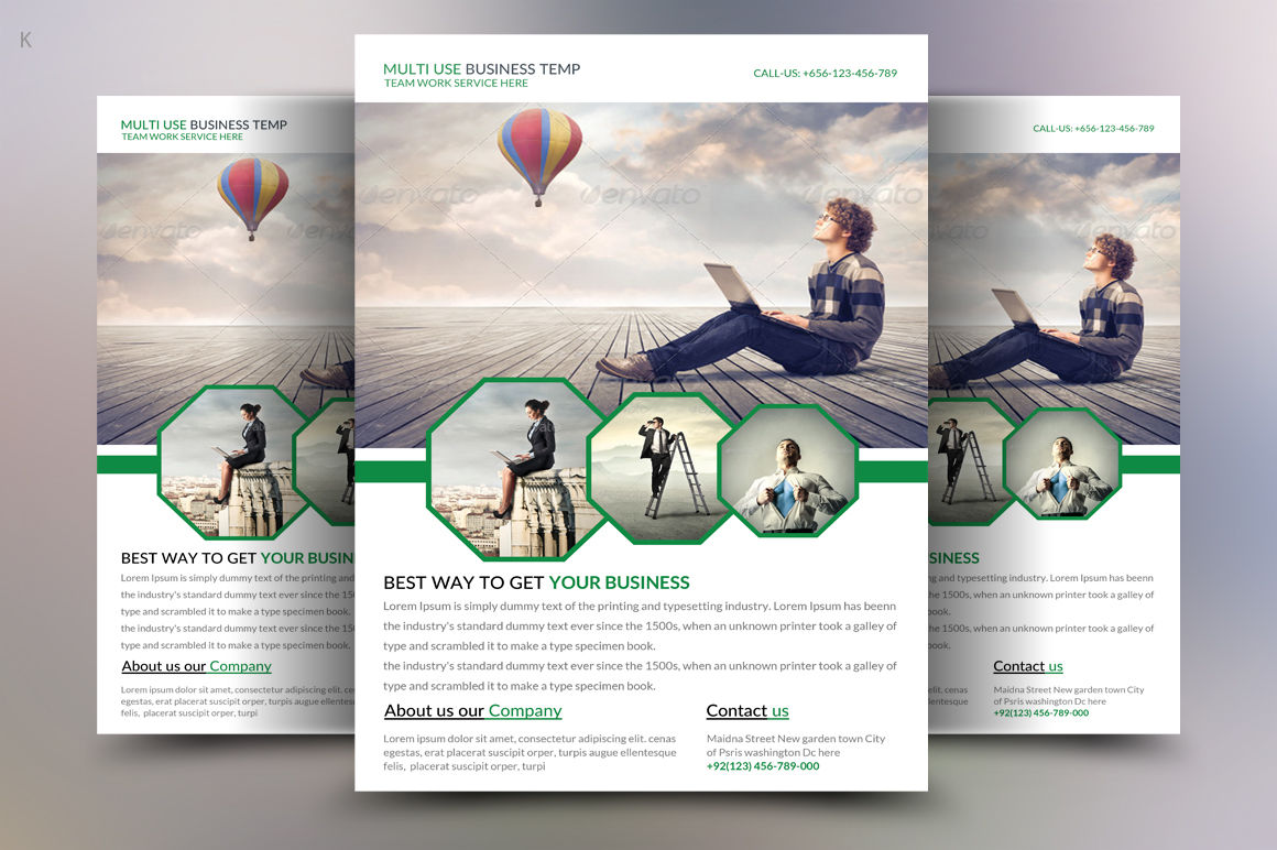 Multi Use Business Flyer Template By Ayme Designs Thehungryjpeg Com